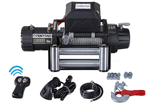 OPENROAD 9500lbs Electric Winch with Rope