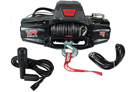 WARN 103250 VR EVO 8 Standard Duty Winch with Steel Cable Synthetic Rope 12,000 lbs